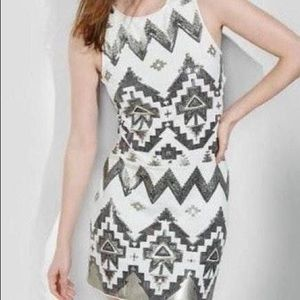 Off White Sequin Dress Small